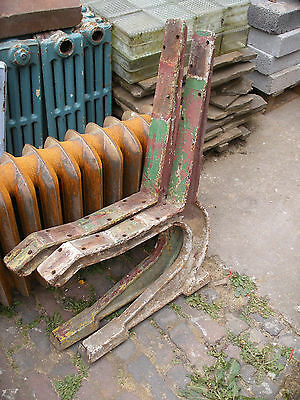 Antique / vintage very heavy cast iron bench ends