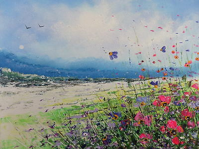 "Original Textured Acrylic Oil  Painting On  Canvas "" Wildflowers"""