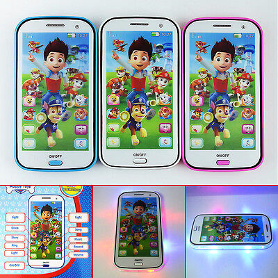 PAW PATROL Figures Educational Learning Mobile Phone Kids Children Baby Toy Gift