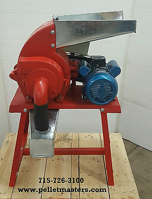3 hp 220V 1ph Electric Powered Hammer Mill Feed Grinder! USA In-stock!