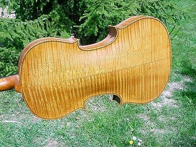 Antique German Violin Nice Tiger Back No Cracks Finish Set Up  4/4