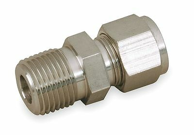 """Parker 316 Stainless Steel A-LOK x MNPT Male Connector, 3/4"""" Tube Size -"""