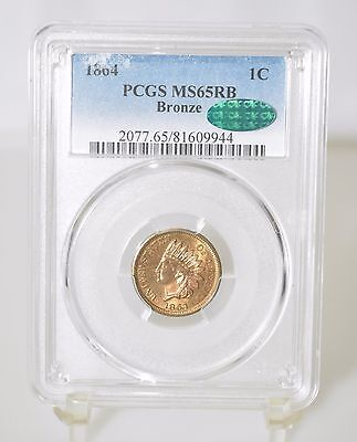 1864 Bronze Indian Head Cent - PCGS CAC MS65RB (#6595)