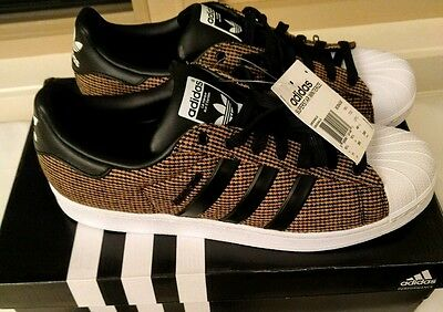 New Adidas Superstar Winterized Pack Mens Brown Trainers Sneakers Size 11 B35430