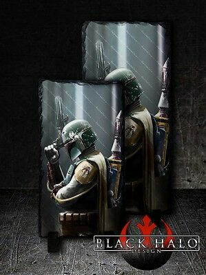 Star Wars: Boba Fett Solid Natural Rock Slate With Stands