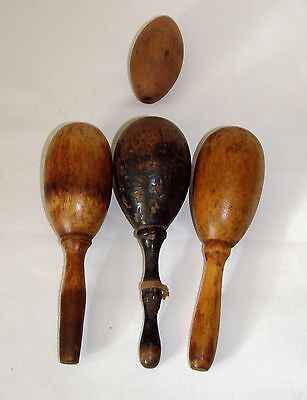 Four (4) Antique Wooden Sock Darners
