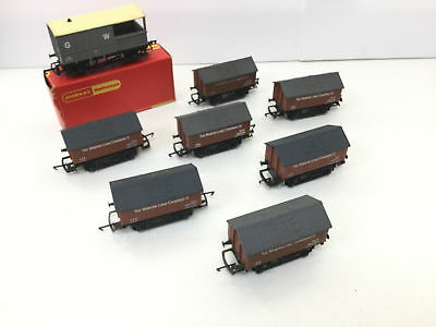 Hornby R211 OO Gauge Lime Wagon Minera Lime x5 & Brake Van