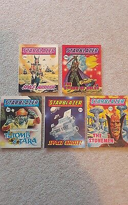 5 Starblazer Comics commando sized Scifi (1980's)