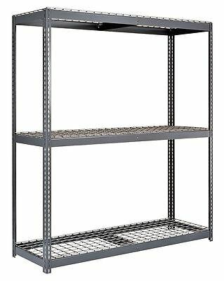 "60"" x 48"" x 96"" Steel Bulk Storage Rack Starter Unit, Gray; Number of Shelves: 3"