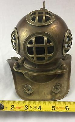 "Vintage Copper & Brass 7"" Divers Helmet Mask (US Navy Diving) Replica"
