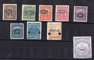 El Salvador Early Officials Collection SG0171/0674 Mint X6267