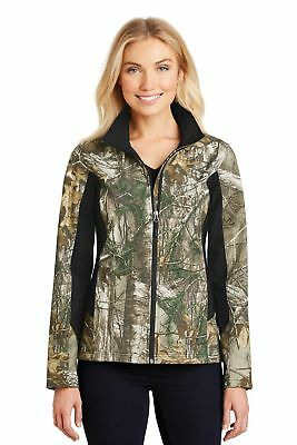 Port Authority  Ladies Camouflage Colorblock Soft Shell. L318C Realtree Xtra/ Bl