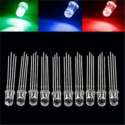 50Pcs Super Bright Common Cathode Led Rgb Bulb Lamp 4-Pin F5 5Mm New Ic