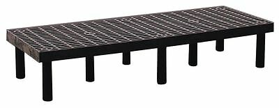 "Structural Plastics 66"" x 24"" x 12"" Polyethylene Dunnage Rack with 1000 lb. Load"
