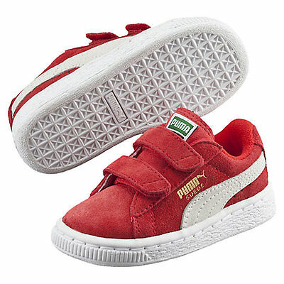 puma Suede 2-Strap KIDS TODDLER SNEAKERS HIGH RISK RED US TD SIZES  356274-03