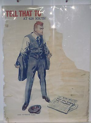 WWI Poster Original Tell that to the Marines