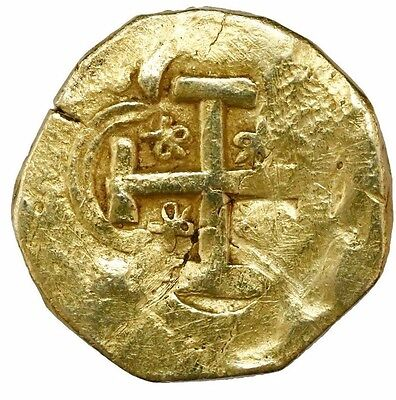 Seville, Spain, Gold Cob 8 escudos, Charles II, assayer not visible