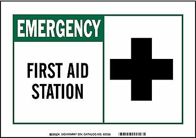 Brady Safety Sign, 7 x 10 In., Self-Adhes. - 83759