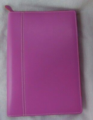 Baekgaard Zip Around Day Planner Maui Pink With Pumpkin Excellent Condition