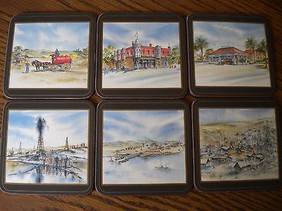 Vintage UNOCAL 76 COASTERS Commemorative Set of 6 in Original Box by Pimpernel