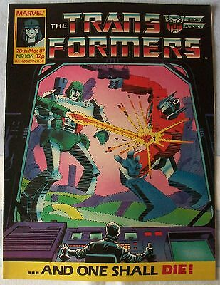 Transformers UK Comic Issue 106 March 1987