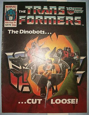 Transformers UK Comic Issue 74 August 1986 In The National Interest Part 1