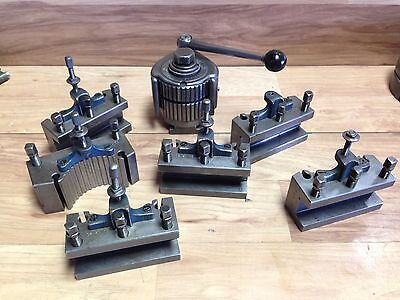 Nice Enco Swiss / German  Made Quick Change 40 Position Tool Post And Holders