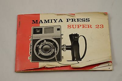 Mamiya Press Super 23 Camera Owner's Manual