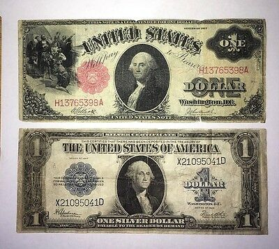 1917 Red Seal $1 and 1923 Blue Seal $1 Large Size Notes just dropped $