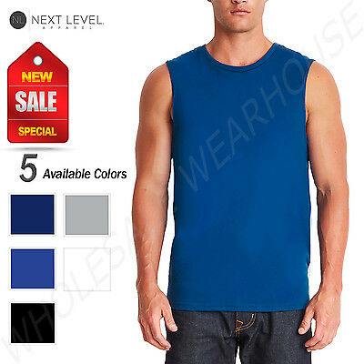 NEW Next Level Mens Premium Fit Sleeveless  Muscle Tank Top M-6333