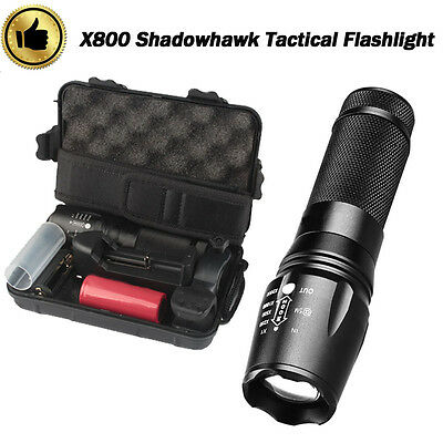 6000lm LED Genuine SHADOWHAWK X800 Tactical Flashlight Zoom Military Torch G700