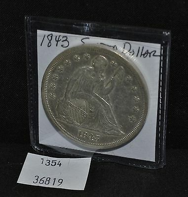 West Point Coins ~ 1843 Seated Liberty Dollar AU