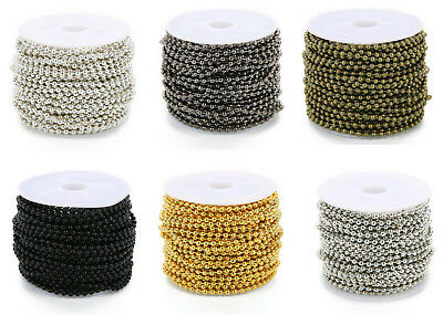 5 m 2.4 mm 5 Colors Round Ball Beads Chain DIY Jewelry Making Accessories Hot