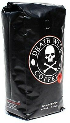 Death Wish Coffee The World's Strongest Ground Beans Fair Trade and Organic 16