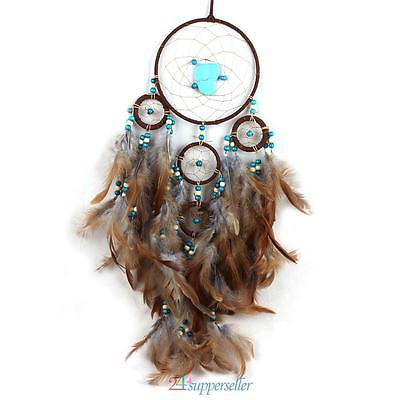 Handmade Dream Catcher Feathers Beads Home Wall Hanging Decoration Ornament Gift