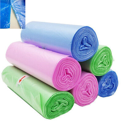 1 Roll 25Pcs Practical Garbage Bag Kitchen Garbage Cleaning Rubbish Trash Bags