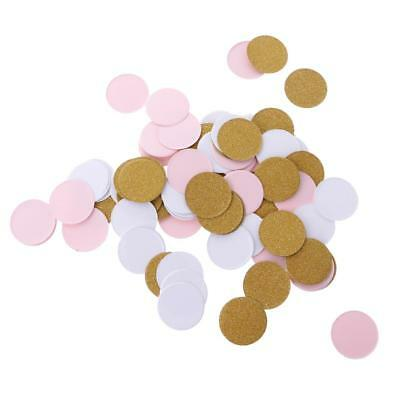 100pcs Romantic Round Paper Gold Pink White Confetti Wedding Party Supplies