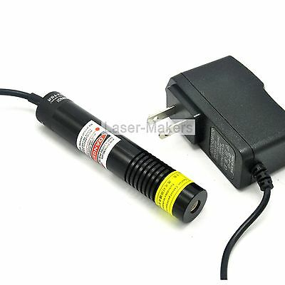 200mW 650nm Red Focus Line Waterproof Glass Lens Laser Diode Module w/5V Adapter