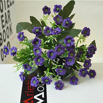 Newest 1 bunch/6 Branches Artificial Silk Milan Flowers Furnishing Table Decor