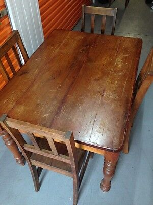 Antique kitchen table and chairs