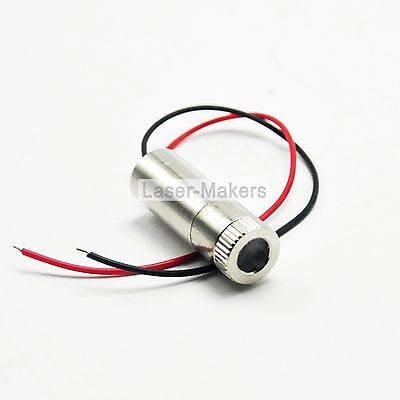 850nm 30mW IR Infrared Focusable Dot Laser Diode Module w/ Driver in 12X35mm