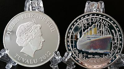 RMS TITANIC COIN SILVER 100 Anniversary Ship White Star Line QUEEN BOAT UK MEDAL