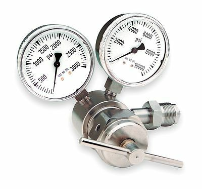 Miller-Smith Equipment Silverline Series Specialty Gas Regulator, 0 to 1000 psi,