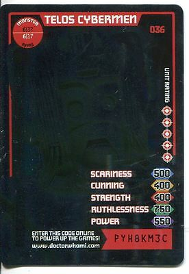 Doctor Who Monster Invasion Card #036 Telos Cybermen
