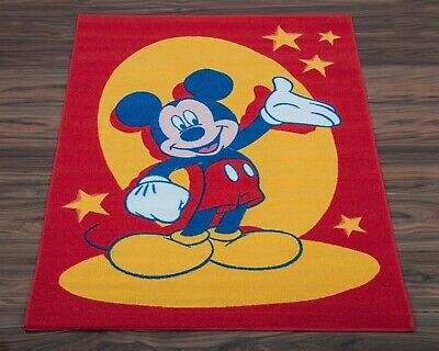Official Disney Children's Rug / Non Slip Play Mat Mickey Mouse 95cm x 133cm