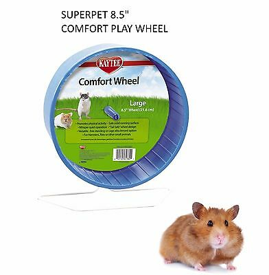 """Superpet Kaytee Large 8.5"""" Syrian Hamster Comfort Play Wheel Cage Exercise 61384"""