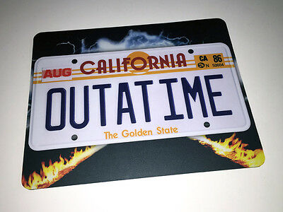 Back to the Future Mousepad - OUTATIME Licence Plate - Mouse Mat