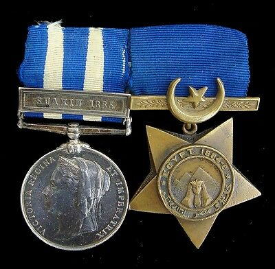 Victorian Egypt Medal Suakin 1885 Clasp, Egypt Star 1884-6 Scots.gds