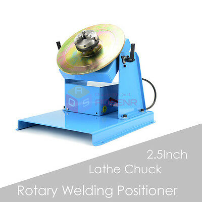 "220V Rotary Welding Positioner Turntable Table Mini 2.5"" 3 Jaw Lathe Chuck New"