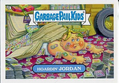 Garbage Pail Kids Mini Cards 2013 Base Card 123b Hoardin' JORDAN